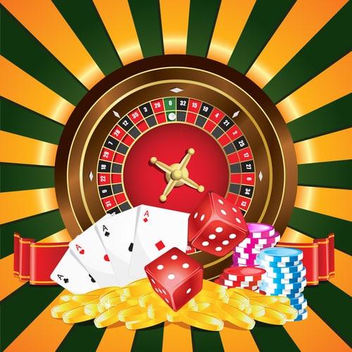 concept de multiples jeu de casino en ligne