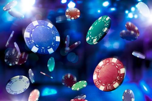 pluie de jetons de casino